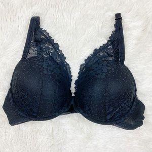 NWT black scalloped bra never worn